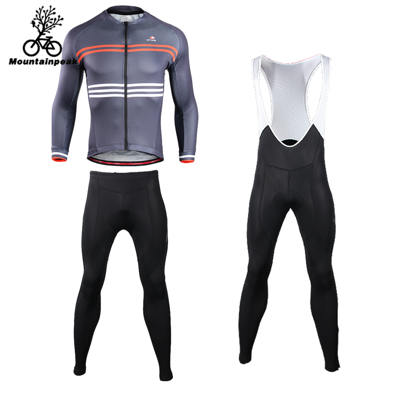 Mountainpeak 2018 Summer Riding Clothes Mens Cycling Long Sleeve Coat Sun Female Straps Riding Pants Breathable Roupa Ciclismo