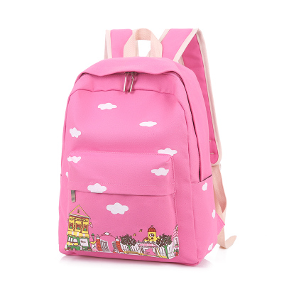 Canvas shoulder bag female student Japanese and Korean version of the simple small fresh backpack college