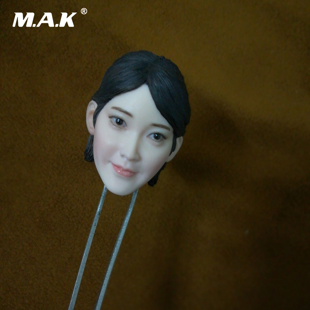 1/6 Scale Female Air Hostess Hard Hairstyle Beauty Head Sculpt Smile Face Ver. for 12'' Pale Action Figure   Body p80 panasonic super high cost complete air cutter torches torch head body straigh machine arc starting 12foot