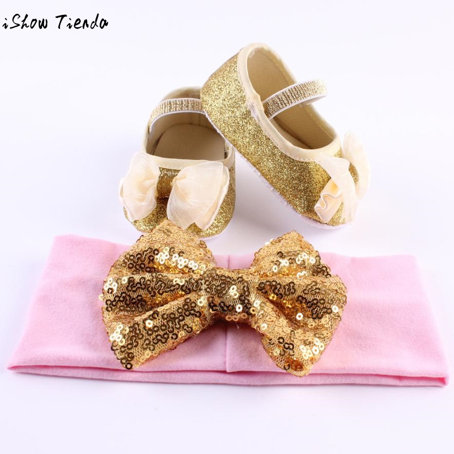 Baby Girl First Walkers Lace Flower Shoes Sneaker Anti-slip Soft Sole Toddler Shoes+1pc Hairband #2415