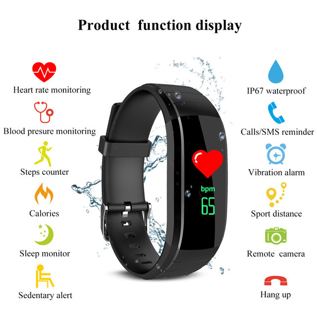 2018 Smart Wirstband Heart Rate Smartband Watch Fitness Men Woman Smart Bracelet Call Reminder Pedometer Digital Watches
