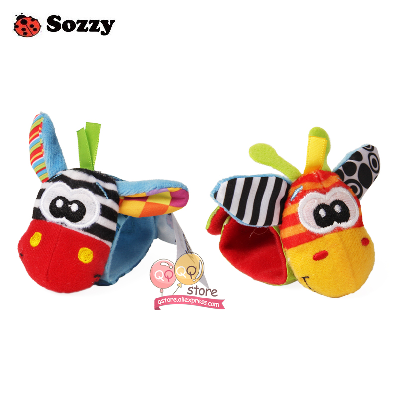 Sozzy-4pcs-Zebra-Baby-bebe-Infant-Wrist-and-Socks-Rattle-Bell-Foot-Finders-Set-Educational-Soft-Christmas-Gift-Toys-for-Children-4