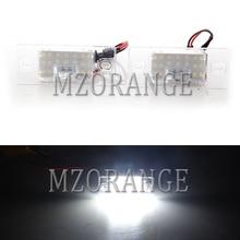 2Pcs 18-SMD LED Number License Plate Light For Porsche/Volkswagen/VW/Audi/Cayenne/Touareg/Passat/0Tiguan Golf V TT TTS 2000 2001 стоимость
