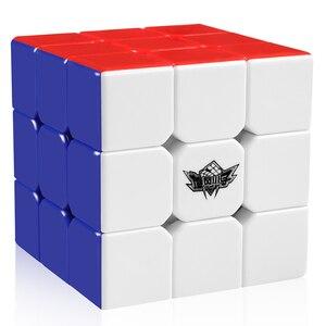 D-FantiX إعصار بنين 3x3x3 المكعب السحري المهنية سرعة مكعبات 3x3 الألغاز 3 بواسطة 3 Speedcube (56mm)