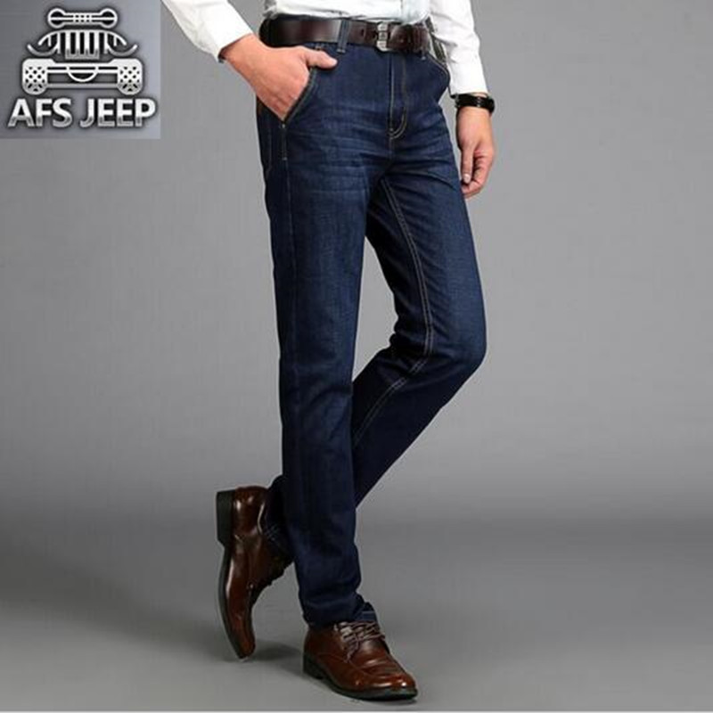 Mens Straight Jeans AFS JEEP Brand Cargo Pants Homme Plus Size 42 Male Denim Breathable Biker Jeans Casual Jogger Jeans For Men