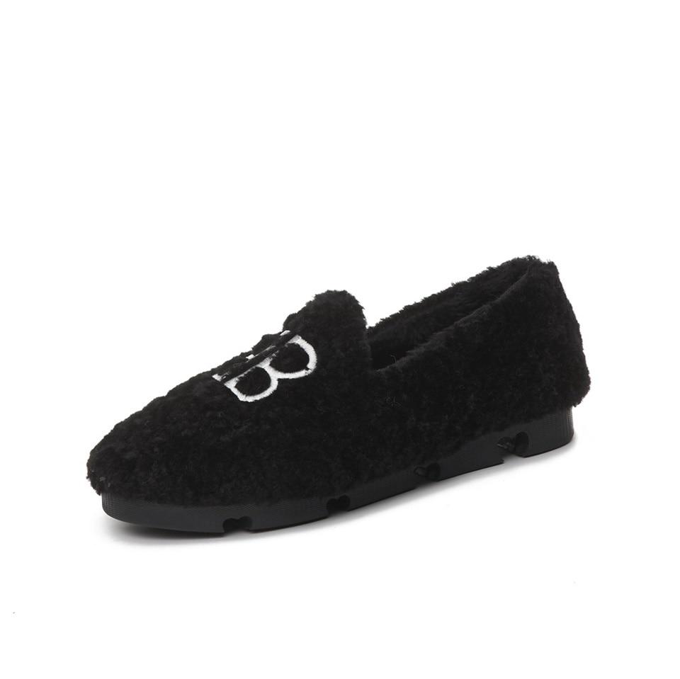 Chaussures Daim Confortable De blanc Et Plat Coton D'hiver Femmes Nouvelles Mode En Automne Noir 2018 Chaudes marron xOwPnYz