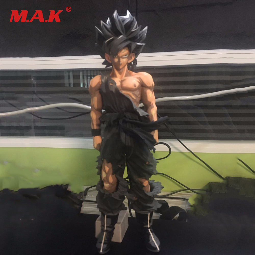 Dragon Ball Anime Figure Son Goku Paint Color Action Figure 34CM Big Size DragonBall Z Super Saiyan PVC Action Figure Collection dragon ball z super big size super son goku pvc action figure collectible model toy 28cm kt3936
