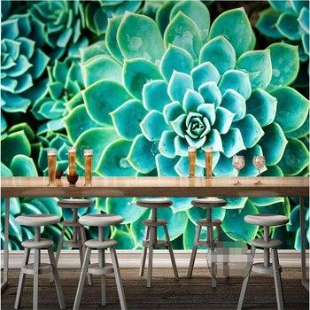 Большой Домашний Декор Зеленый нефрит цветок Отель Фон Современная Фреска обои для Гостиной Murales Сравнению 3d полы обои