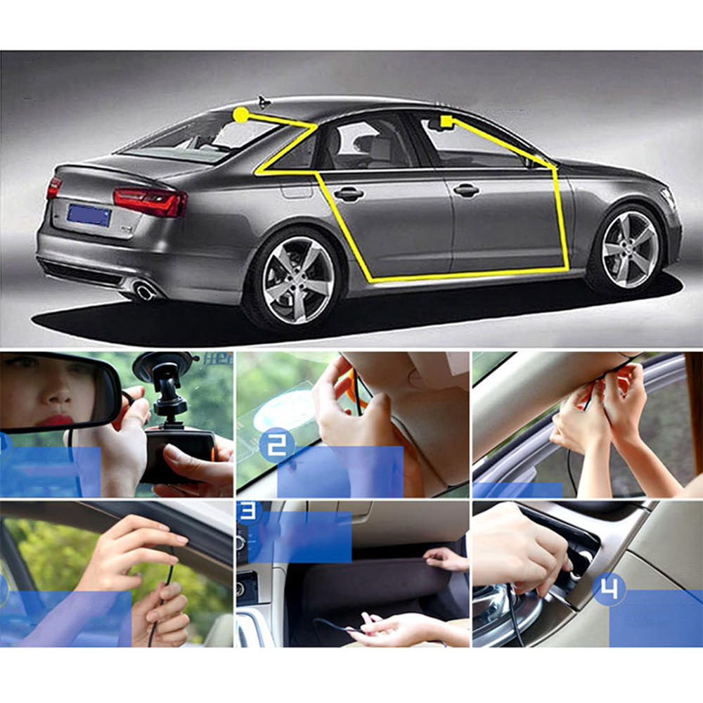 Mini Car Camera Dual Lens Car DVR Dash Cam HD 1080p 170 Wide Angle With G-Sensor WDR Loop Recording And Night Vision 9