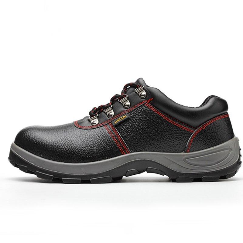 Heren Laarzen Lederen 2019 Echt Leer Mannen Werken Laarzen Veiligheid Schoenen voor Mannen Anti Slip Sneakers Schoenen Beschermende Schoenen - 2