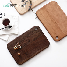 Home cake INMAN brief rectangle solid wood chopping block black walnut cutting board kitchen utensils