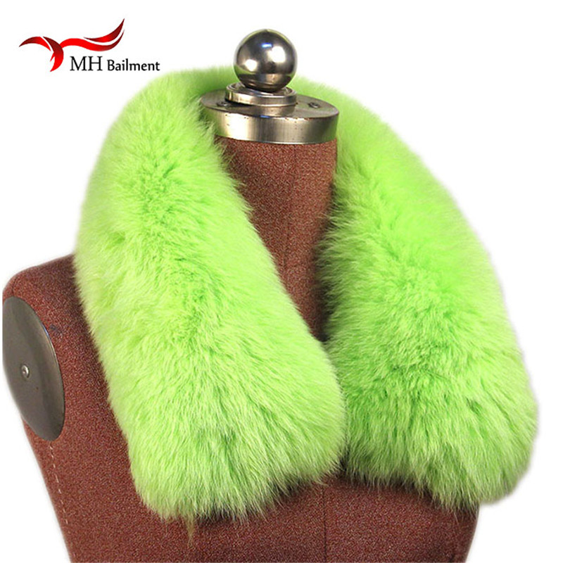 Real Fox Fur Collar Women 100% Natural Fox Fur Scarf Winter Warm Fur Collar short Scarves L#73 5 colors 2017 new long fur coat parka winter jacket women corduroy big real raccoon fur collar warm natural fox fur liner