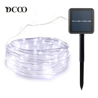 Vmanoo Rope Lights 120 LEDs Solar Powered LED String Lights Outdoor Garden Party Lighting Solar Rope