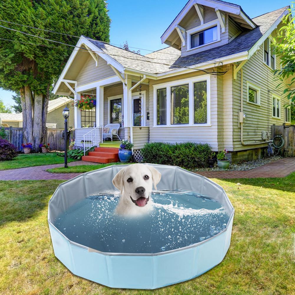 Piscine pour animaux de compagnie chien chat baignoire pour animaux de compagnie pliante baignoire piscine