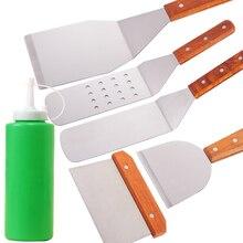6 шт./лот Инструменты для барбекю набор барбекю для теппаньяки шпатели для барбекю Scrapper принадлежности для гриля сковородка для барбекю инструменты