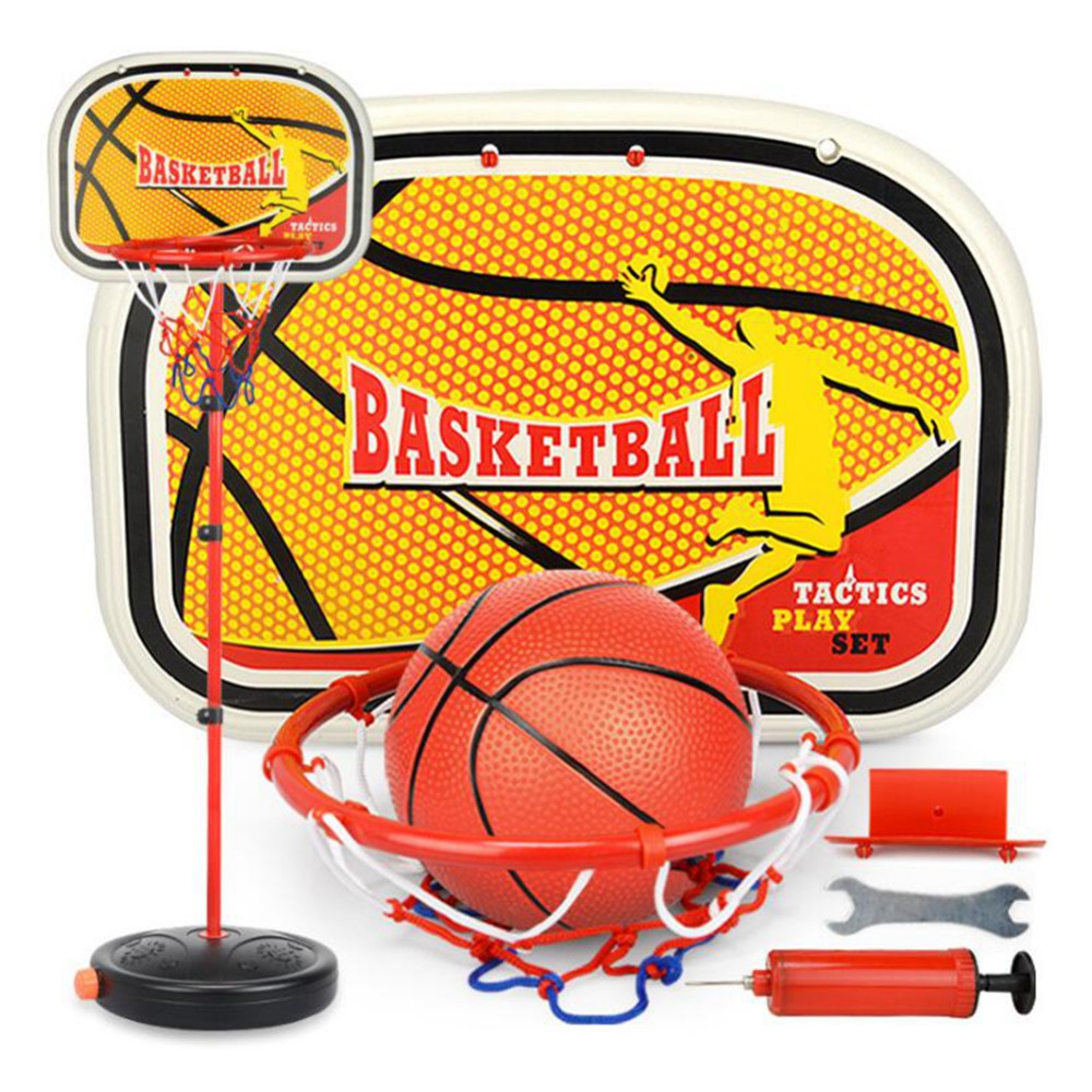 LeadingStar Children Inside and Outside Portable Adjustable Basketball Backboard Stand Hoop Set with A Basketball zk25