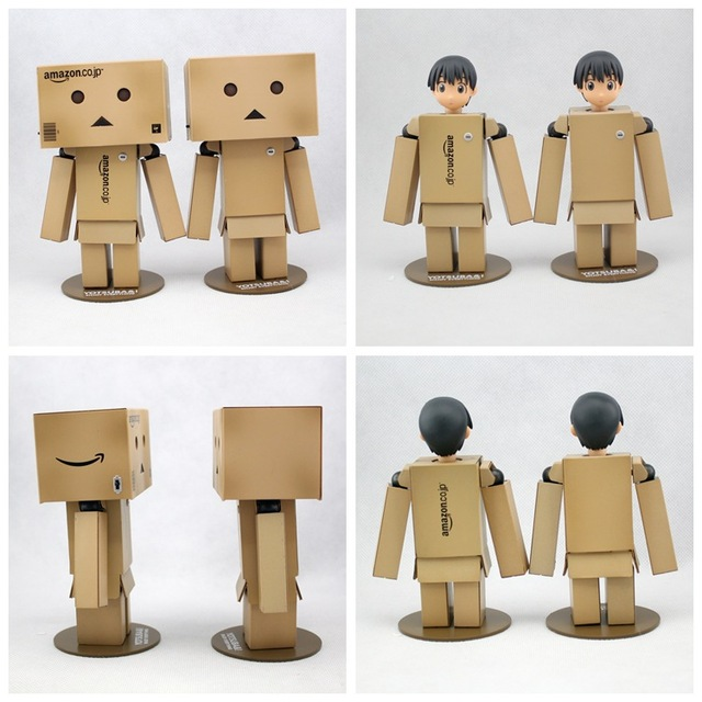 1pcs Revoltech Danbo Danboard Head can be changed Japanese Box Version Action Figure Doll Toy Gift LED Light New In Box