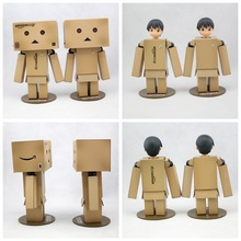 1pcs Revoltech Danbo Danbor Head can be changed Japanese Box Version Action Figure Doll Toy Gift LED Light New In Box