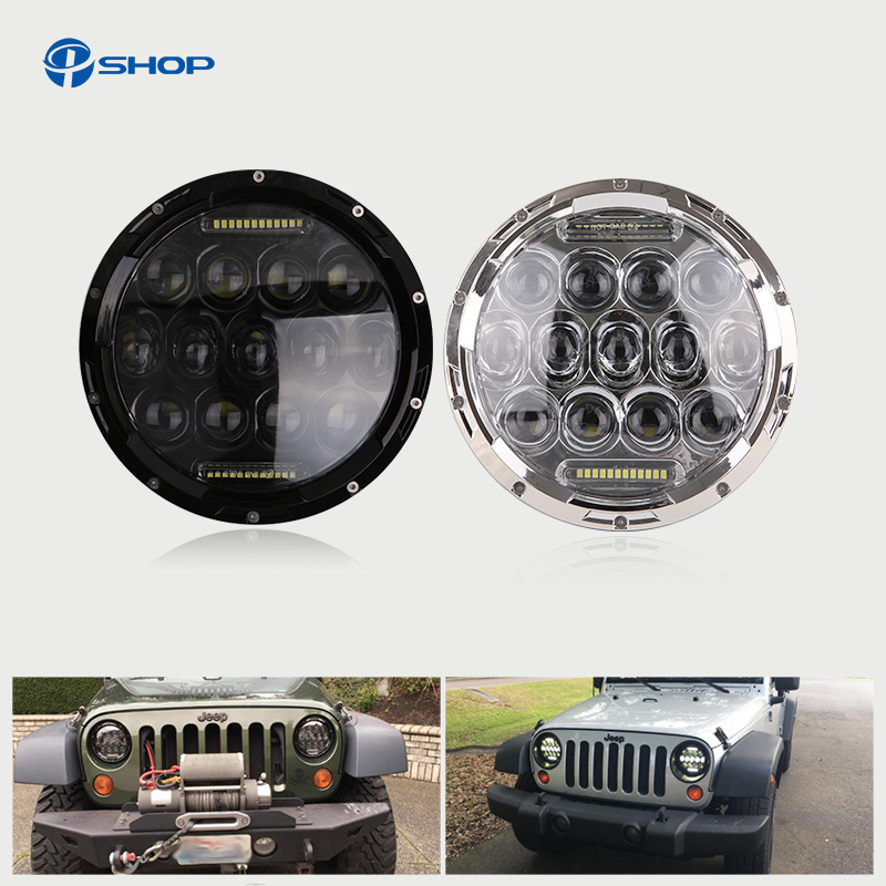 7inch 75w LED headlight for Jeep wrangler JK 4x4 led h7 headlights with H4/H13 Hi-LO beam for LADA NIVA