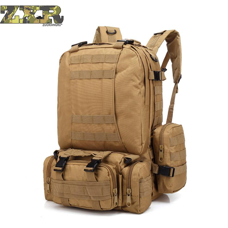 2018 Hot 50l Men Camouflage Military Survival Rucksack Men's Travel Mountaineering Bag Large Capacity Luggage Bags Travel Bags