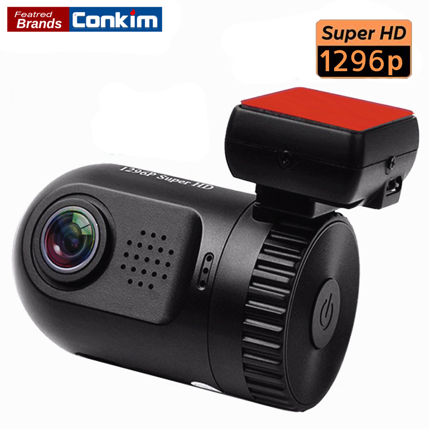 Conkim Mobil DVR Ambarella A7LA50 Mini 0805 Full HD 2304 * 1296P 30fps Kamera Mobil Dash Mobil LDWS HDR G-sensor Digital Video Recorder