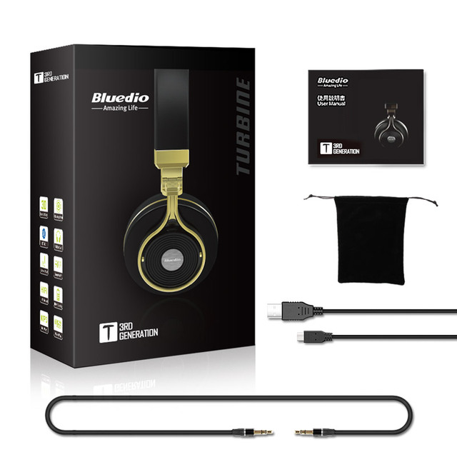 Bluedio T3  Wireless  bluetooth Headphones With microphone