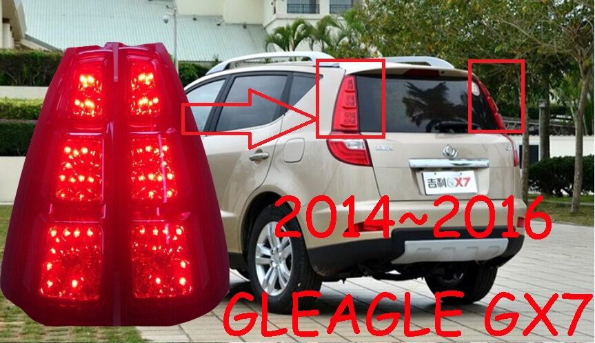 Geely Emgrand GX7 taillight,2011~2013/2014~2016,Free ship!2pcs/set,GX7 rear light,Red color,Geely Emgrand Gleagle GX7 su gx 5s r