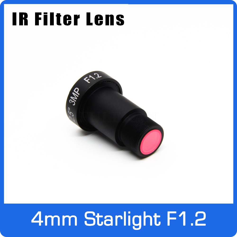 Starlight Lens With IR Filter 3MP 4mm Aperture F1.2 1/2.5 Inch For Action Camera And Car Driving Recorder EKEN/SJCAM/YI/MIJI