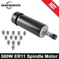 Spindle 0.5kw DC Motor Air Cooled Spindle Motor DC 0 100V CNC Wood Router Bit ER11 Collet Chuck For Engraver Milling Machine