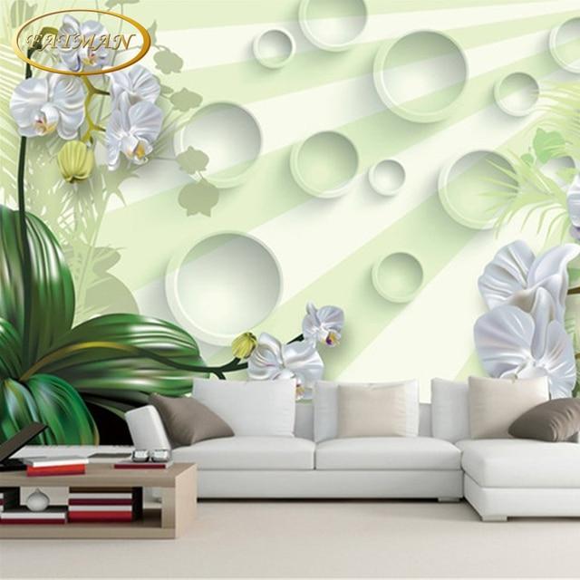 US $11.05 25% OFF|Benutzerdefinierte 3D fototapete Moderne elegante  Orchidee hotel tapete wohnzimmer lobby tapete wandbild papel de parede in  ...