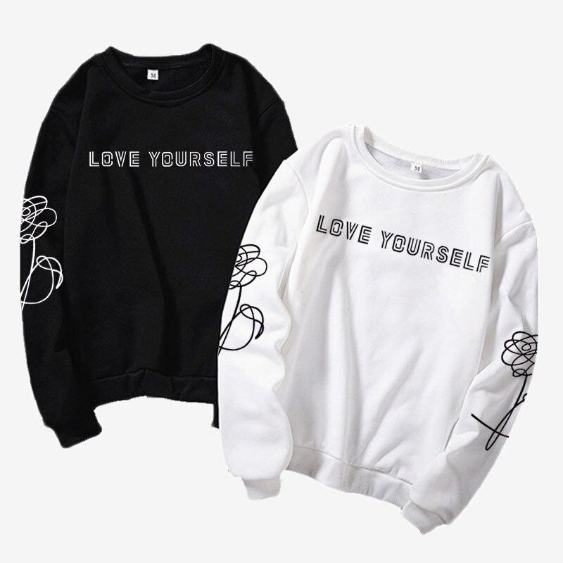 Kpop estilo Harajuku roupas de Amor a si mesmo/a dizer a si mesmo K-pop jersey, moderno, presente namorada do instagram, k pop camisa Jimin, J