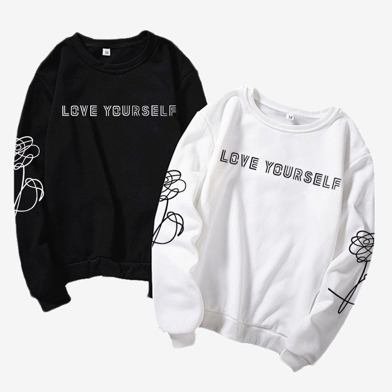 Kpop Harajuku style clothes Love yourself / say yourself <font><b>K</b></font>-<font><b>pop</b></font> jersey, hipster, instagram girlfriend gift, <font><b>k</b></font> <font><b>pop</b></font> shirt Jimin, J image