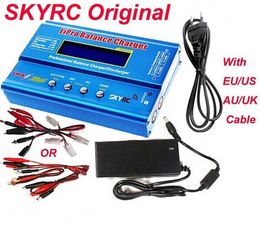 Оригинал SKYRC IMAX B6 цифровой RC Lipo NiMh Батарея баланс Зарядное устройство с питания переменного тока 12 В 5A адаптер + eu/us/uk/au разъем питания