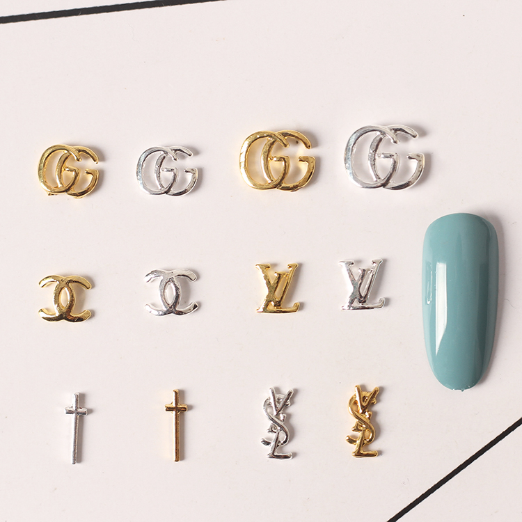 0ee2998925 🛒[58h4a] 100pcs/lot 3D Alloy Nail Art Cross Gold Metal Nail Rivets ...