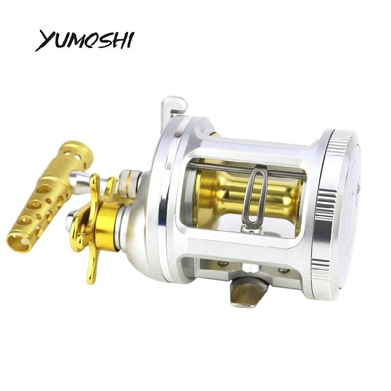 Reelsking 2018 New Right Handed Fishing Baitcasting Reel Super Light 4.2:1 Metal Body Round Fishing Reel peaca wheel цена