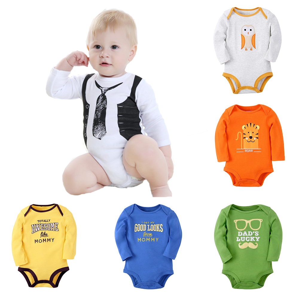 Clearance Baby Rompers Baby Boys Clothing Cartoon Pattern Toddler Long Sleeve Clothes Roupa Infant Jumpsuits Newborn Romper