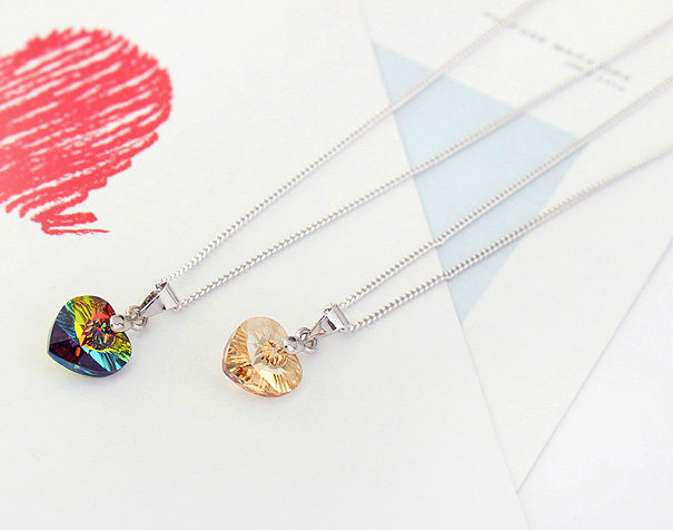 Online shop anngill mini xilion heart pendant necklace crystals from anngill mini xilion heart pendant necklace crystals from swarovski thin chain necklaces for women girls new jewelry gift mozeypictures Gallery