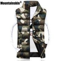 Mountainskin Для мужчин камуфляж жилет Зимний Для мужчин куртка без рукавов Повседневное мужской женский Camo жилет Slim Fit брендовая одежда SA031