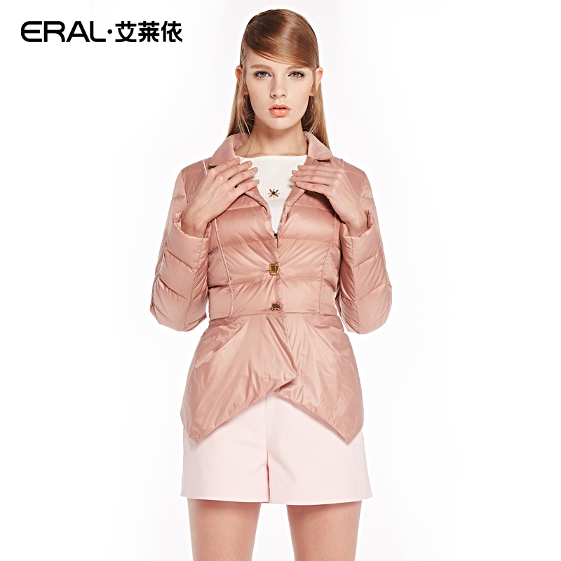 ERAL Winter New Arrival Women's Slim Irregular-hem Suit   Coat     Down   Jacket Outerwear with Notched Collar Plus Size ERAL2026C