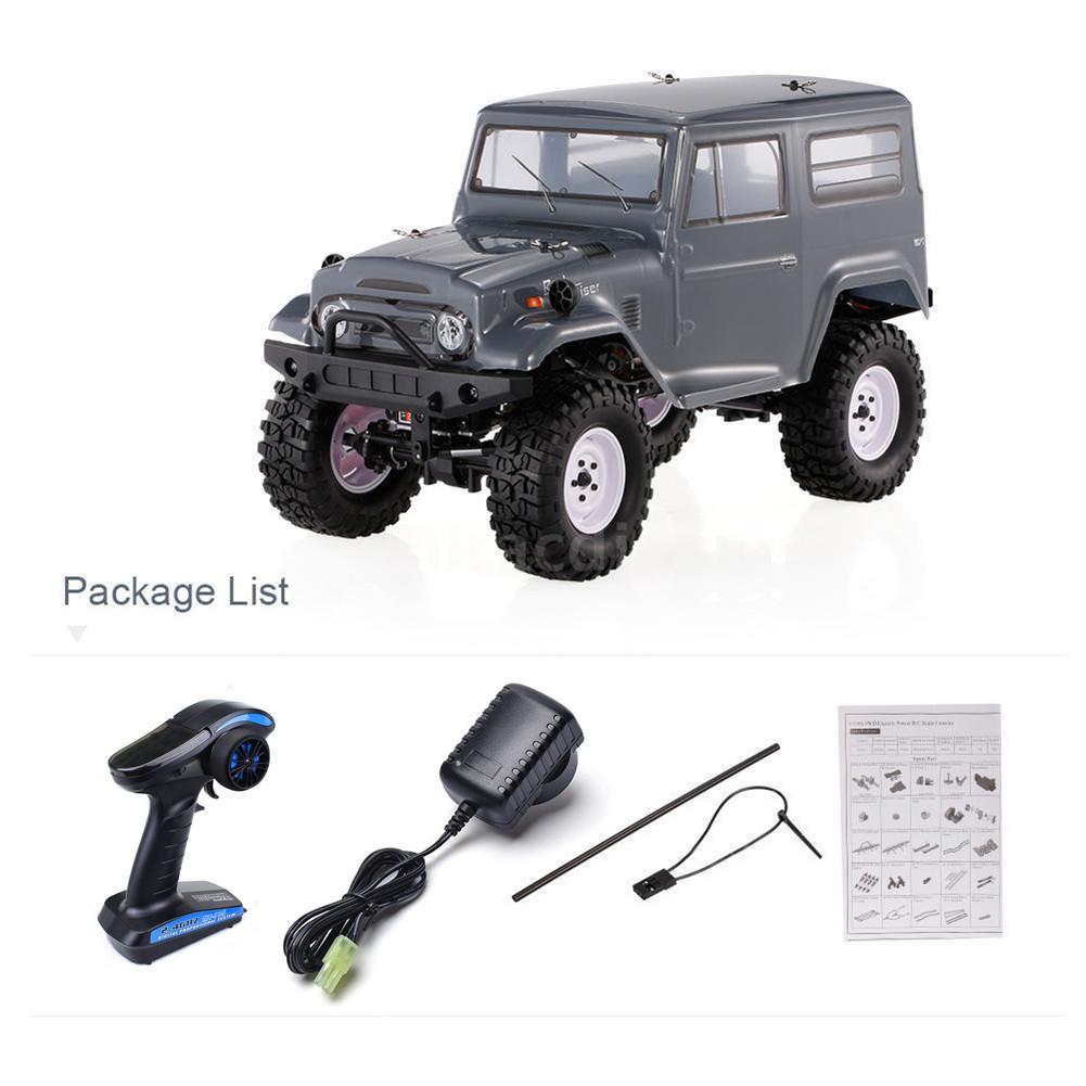 RGT RC chenille 1:10 EX86100 1/10 2.4G 4WD brossé Rc voiture tout-terrain monstre camion roche chenille