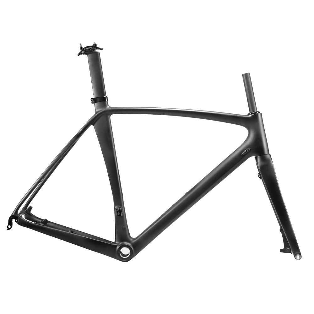 OG-EVKIN Bicycle Carbon Road Frame 2018 Disc Brake DI2 Bicycle Frame 56CM UD Matt Carbon Bike Road Disc Frames BSA Bike Frameset 2017 flat mount disc carbon road frames carbon frameset bb86 bsa frame thru axle front and rear dual purpose carbon frame