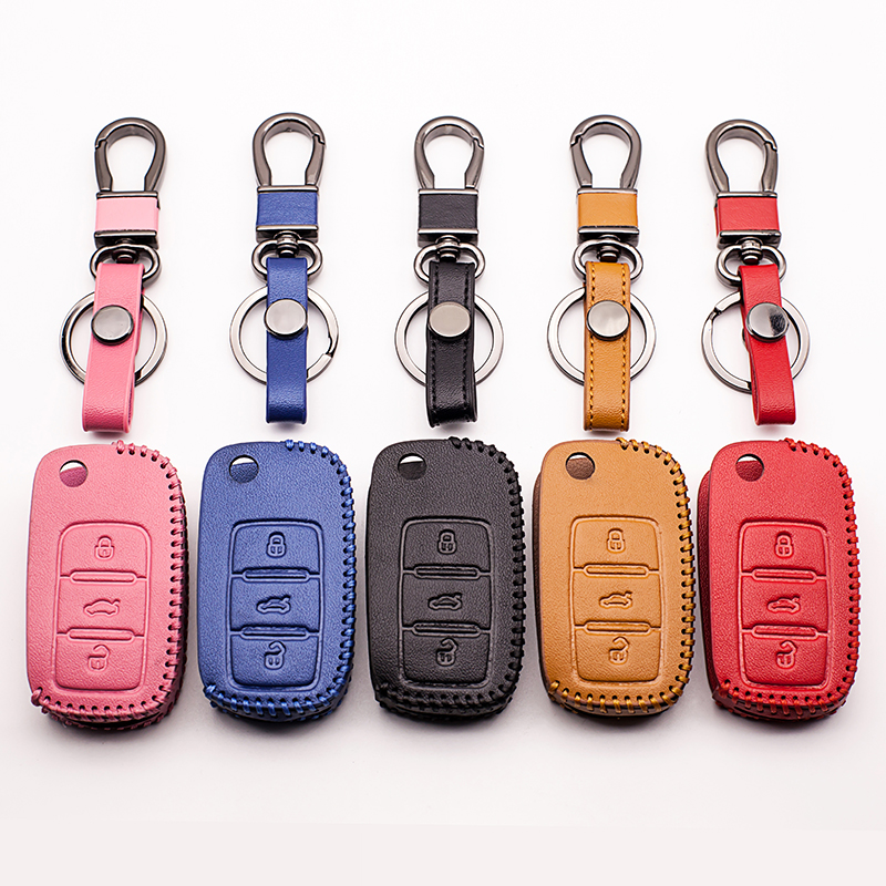 Car key cover Skin case set Fit for Volkswagen VW polo b5 b6 golf 4 5 6 jetta mk6 tiguan Beyond that Beetle car key cover shell искусство плетения кос