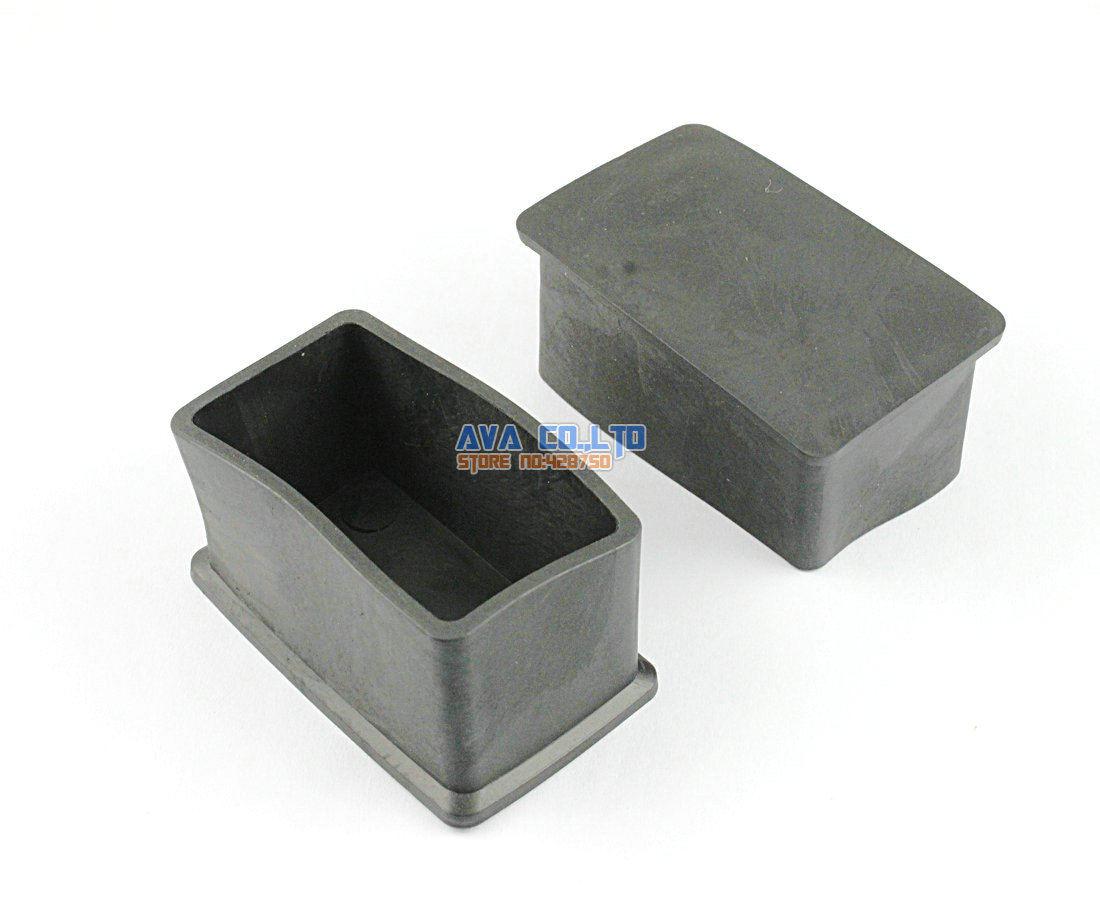 12 Pieces 25 X 50mm Rectangle Rubber Furniture Chair Table