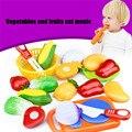 Preço de atacado 12 pc corte de frutas legumes pretend play crianças toy kid educacional pretend play toys para crianças 2016.11