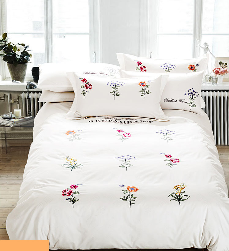 lea 6 8 comforter set in purple white bed bath flowers leaf embroidered bedding sets white blue green 794