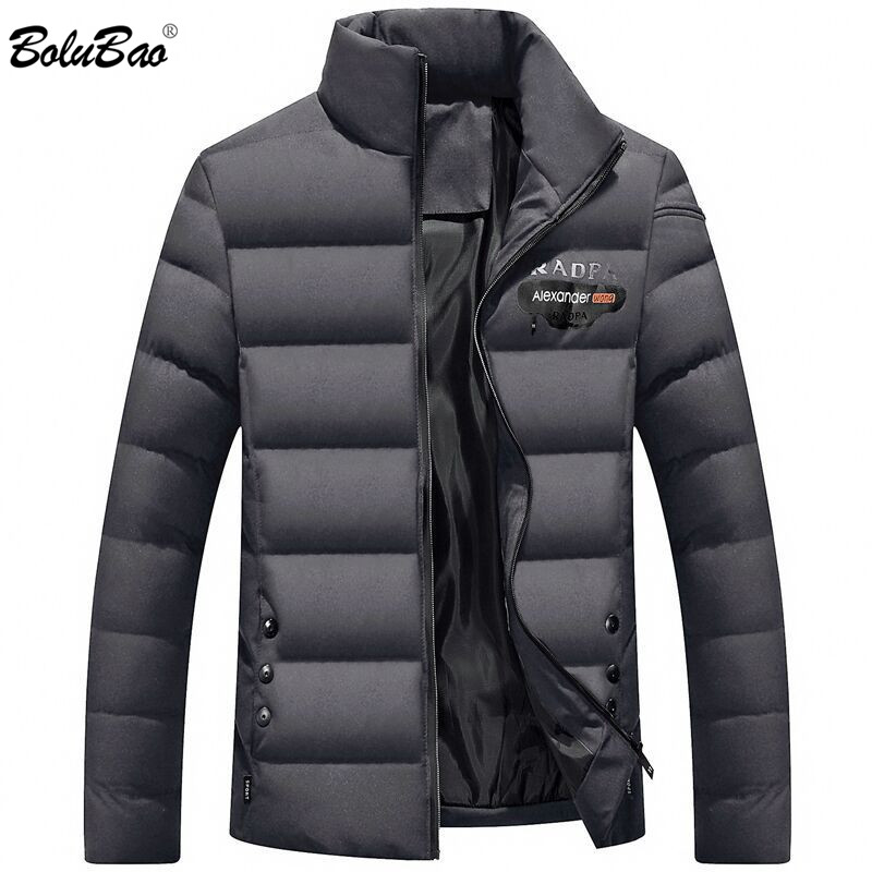 BOLUBAO Brand Men Warm Parka High Quality Winter Male Coat Jackets Casual Letter Printing Windproof Men's Parkas