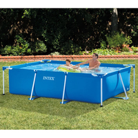 300*200*75CM Intime Adult Infant Inflatable Ocean Plus Size Large Plastic Children Swimming Pool With Water Pump