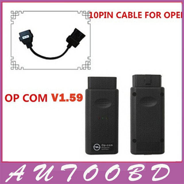 V1.59 software 120309A OP COM with PIC18F458 chip Diagnostic Interface op-com opcom with opel 10 pin male to femal obd cable