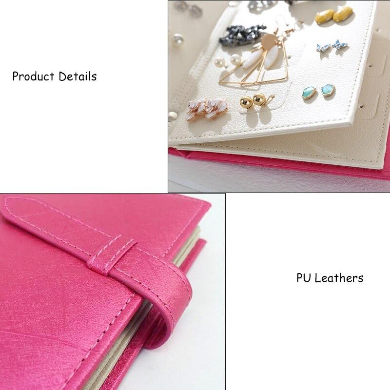 Kayiyo Pu Leather Jwellery Storage Book Women Stud Earrings Collection Earring Box Jewelry Display In Bo Bins From Home