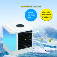 Personal Space Air Cooler Portable Conditioner Mini USB Evaporative Desk Fan Quick & Easy to Cool Device Home Office Desk